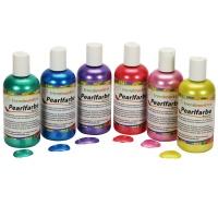 Pearl Farbe | Glanzfarbe Set Rot, Blau, Gelb, Grün, Lila, Rosa | Metallic Farbe