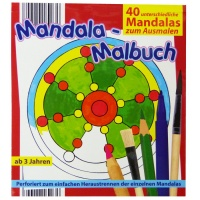 Mandala Malbuch mit 40 Motiven, 14,5 x 16 cm