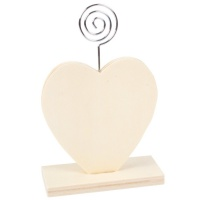 Memoclip Herz aus Holz, 9 x 3,5 x 13,5 cm, 8 mm dick