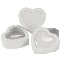 Pappschachtel Herz mit Fenster Herzbox Pappbox Herz
