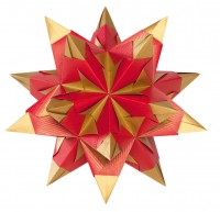 Bascetta Stern, Duo rot/gold, 15x15 cm, 32 Blatt, 75 g m²